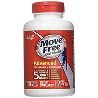 Schiff 无移动关节健康膳食补充剂,高级葡萄糖胺软骨素170 片