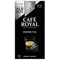 Café Royal Ristretto 50 Nespresso kompatible Kapseln aus Aluminium, Intensit?t 9/10, (5 x 10 Kaffeekapseln)