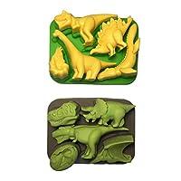 Win&Co 恐龙冰托盘/巧克力模具 * 食品级纯硅胶,一套 2 个