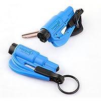 resqme 原装钥匙扣汽车逃生工具,美国制造(蓝色) - 2 件装