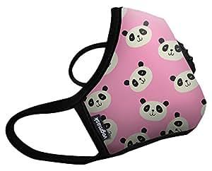 Vogmask N99CV时尚成人/儿童防雾霾口罩/pm2.5防雾霾口罩Pink Panda(熊猫小桃)1只 多色 M号 (7岁以上儿童/成年女性 51-130磅/23-58公斤)(进口)