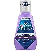 Crest Pro-Health Advanced Mouthwash with Extra Deep Clean, Clean Mint 16.90 oz 2片装