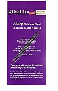 4 英寸(10 厘米)HiyaHiya 可更换尖钢针尖 Size-US-8-(5mm) HISSTINTIP4-8