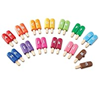 Learning Resources 字母棒冰玩具 益智零食阿尔法玩具 字母匹配 精细电动技能玩具 26块,适合2岁以上儿童