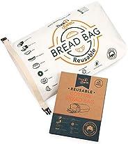*棉面包袋 - 可重复使用,高级面包袋 - 烘焙用品和食品存储解决方案 - * 可回收和可持续 - 零浪费,素食主义者友好