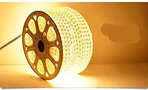 朗美科 简约现代时尚LED灯带高亮度家装灯条客厅灯 灯带 5050至尊版纯铜 60珠 七彩 按米售卖 暖白203米