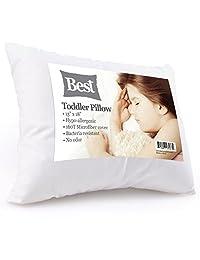 *棒的幼儿枕头(不可思议柔软 - * 防*)无需枕套! 无* - 白色超细纤维表面 33.02 x 45.72 - 为任何幼儿、儿童或儿童提供*的后背和颈部支撑