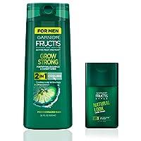 Garnier Fructis Grow Strong 2-in-1 Cooling 22 fl. oz. + Men's Clean Up Cream Kit (Family Size)