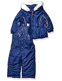 London Fog 女婴防雪服,带雪围兜和羽绒服