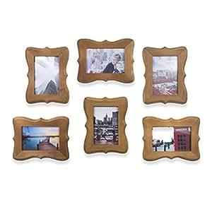 维多利亚壁垒家庭或办公室装饰木相框 10.16x15.24 厘米照片胡桃木 天然 2XCNC004