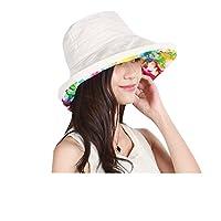 zeagoo 蒸气女式宽帽檐 UPF 50棉质可折叠可收纳沙滩太阳帽