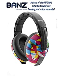 Baby Banz Earmuffs Infant Hearing Protection ?? Ages 0-2+ Years ?? THE BEST EARMUFFS FOR BABIES & TODDLERS ?? Industry Leading Noise Reduction Rating ?? Soft & Comfortable ?? Baby Ear Protection