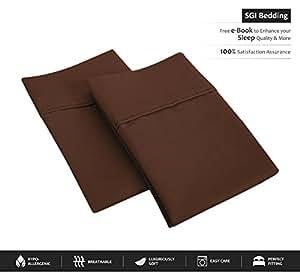 SGI 床上用品 600 支 * 埃及长绒棉枕头套和枕套 巧克力色 Body PillowCase SGI-PISHM-SW1-64