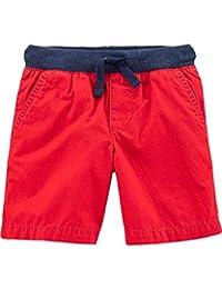 Carter's 卡特男婴柔软棉质府绸短裤 带功能性抽绳和口袋 24 个月 红色
