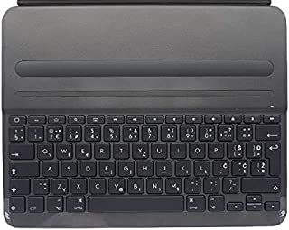 Logitech SLIM FOLIO PRO, backlit Bluetooth keyboard case 对开式 黑色920-009148 Slim Folio PRO 12.9 Inch(English Layout 英语版本 QWERTY布局)