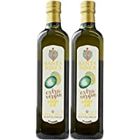 Santa Ninfa 100% Italian Extra Virgin Olive Oil, 25.5 Fl Oz Marasca Glass Bottle, (Pack of 2)