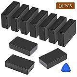 ATPWONZ 10 件塑料防水盒连接盒电子项目外壳兼容电子项目(3.94 × 2.36 × 0.98 英寸)黑色