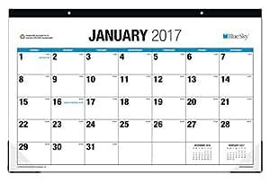 Blue Sky 2017MONTHLY 书桌垫日历,43.2x 27.9cm