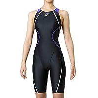 arena 阿瑞娜 泳衣 开背紧身平角紧身裤 AQUA RACING 女士 黑色×紫色×黑色×黑色 ARN-0050W