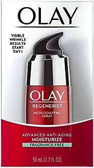 OLAY 玉兰油 Regenerist 透明质酸微雕精华,无香料面部保湿 1.7液体盎司/50毫升