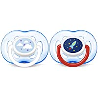 PHILIPS AVENT 正畸安抚奶嘴 Blue Rocket and Cloud 18 Plus Months
