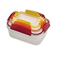 Joseph 81098 Nest Lock 塑料食品保鲜盒套装带可锁定防漏盖,多色 多种颜色 6-piece 81100