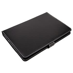 "8"" inch Universal PU Leather Case Carry Stand Cover For All Tablets (Black)"