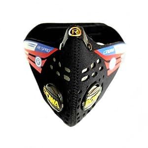 RESPRO 英国进口 N95级 呼吸阀骑行防尘口罩 (CINQRO系列 黑色, M)