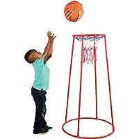 Constructive Playthings 14 英寸便携式篮球框 带重型绳网 适合儿童