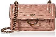 PINKO 女士新款 Mini Love Quilting 单肩包,6x12.8x20.8 厘米 Elfenbein (Nude) 6x12.8x20.8 centimeters (W x H x L)