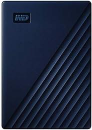 Western Digital 适用于Mac 5TB My Passport 便携式外置硬盘-蓝色,USB-C/USB-A-WDBA2F0050BBL-WESN