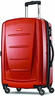 "Samsonite 新秀丽 Winfield 可扩展行李箱,24 \""(约0.61米),橙色,Checked-medium"