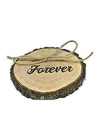OzarkCraftWood Forever 木质乡村风格圆环熊枕头