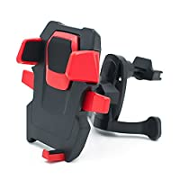 ABIGALE 车载空调出风口 360°旋转卡扣式 汽车用手机支架 手机GPS导航支架 多功能手机架 手机座 适用4-6.5寸手机 GPS导航 数码电子产品等(C2)