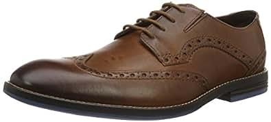 Clarks 男士 prangley LIMIT 粗革皮鞋 Brown (British Tan) 6.5 UK