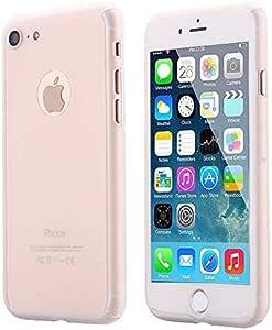 iPhone 7 手机壳,AICase 超薄全包保护软 PC [双层][贴合]手机壳带钢化玻璃屏幕保护膜 iPhone 7 透明