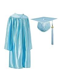 """GraduatePro 闪亮幼儿园预科毕业帽和礼服流苏套装带 2020 年魅力  天蓝色 Size 36(Fit height:4'3""""-4'5"""")"""