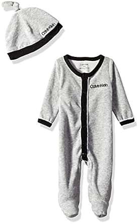 Calvin Klein 3 件套丝绒礼品套装 - Getting Rid Lovey Black/Grey Heather 0-3 Months