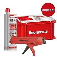 fischer 558726 手工工具箱 包括*胶泥 用于锁定在混凝土和砖墙 12 x 滤芯 FIS V 360 S 24 x 静电混合器 1 x DMS 榨汁机 灰色
