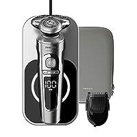 Philips 飞利浦 SP9861/16 9000 Prestige 电动剃须刀 带充电表面 Qi 和胡须修剪器