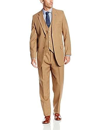 Stacy Adams 男士 Suny Vested 3 Piece Suit 褐色 38 标准