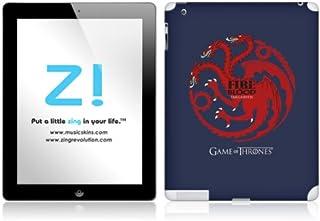 Zing Revolution Game of Thrones Premium Vinyl Adhesive Skin for iPad 2/4, Targaryen Sigil Image, MS-GOT60351