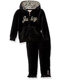 Juicy Couture橘滋 学步女婴2件丝绒裤子套装