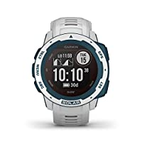 Garmin 佳明 Instinct 太阳能冲浪 – 坚固的 GPS 智能手表,带冲浪应用程序和太阳能充电功能,可长达 54 天的电池。 卷曲波数和长度,时间,潮汐信息。 运动和*功能