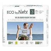 Eco by Naty 優質一次性紙尿褲,適合敏感肌膚 Size 3 14.13163100702