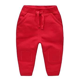 夷榀 男童运动长裤子2019新款春装儿童春秋童装宝宝1岁3小童婴儿潮女童 U8503红色 120