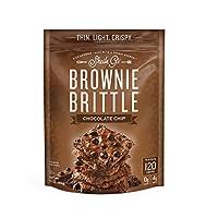 Brownie Brittle, 巧克力片,令人难以置信的丰富和美味巧克力布朗尼零食与饼干碎(包装可能会有所不同) 16盎司