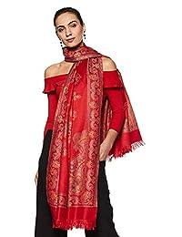 Weavers Villa 女式 * 羊绒印度手工艺艺品编织披肩、围巾和披肩 [大号尺寸:101.6 X 203.2 厘米]