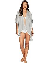 Calvin Klein 女士粗纺条纹沙滩披肩