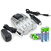 ACDelco AA 和 AAA 兩小時可充電電池充電器包括四節 AA 充電電池